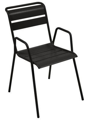 Monceau Stapelbarer Sessel / Metall - Fermob - Lakritz