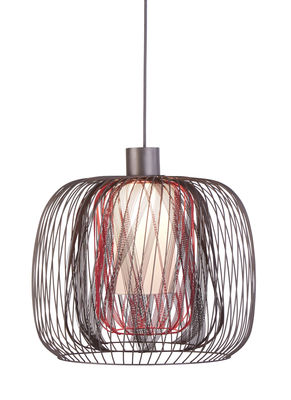 Luminaire - Suspensions - Suspension Bodyless L - Ø 48 cm - Forestier - Fuchsia - Métal, Textile