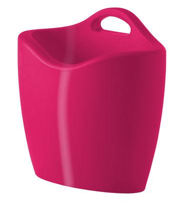 Porte-revues Mag version laquée - Slide laqué rose en matière plastique