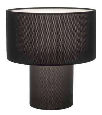 Luminaire - Lampes de table - Lampe de table Pipe Mesh / H 53 cm - Diesel with Foscarini - Noir - Métal, Tissu