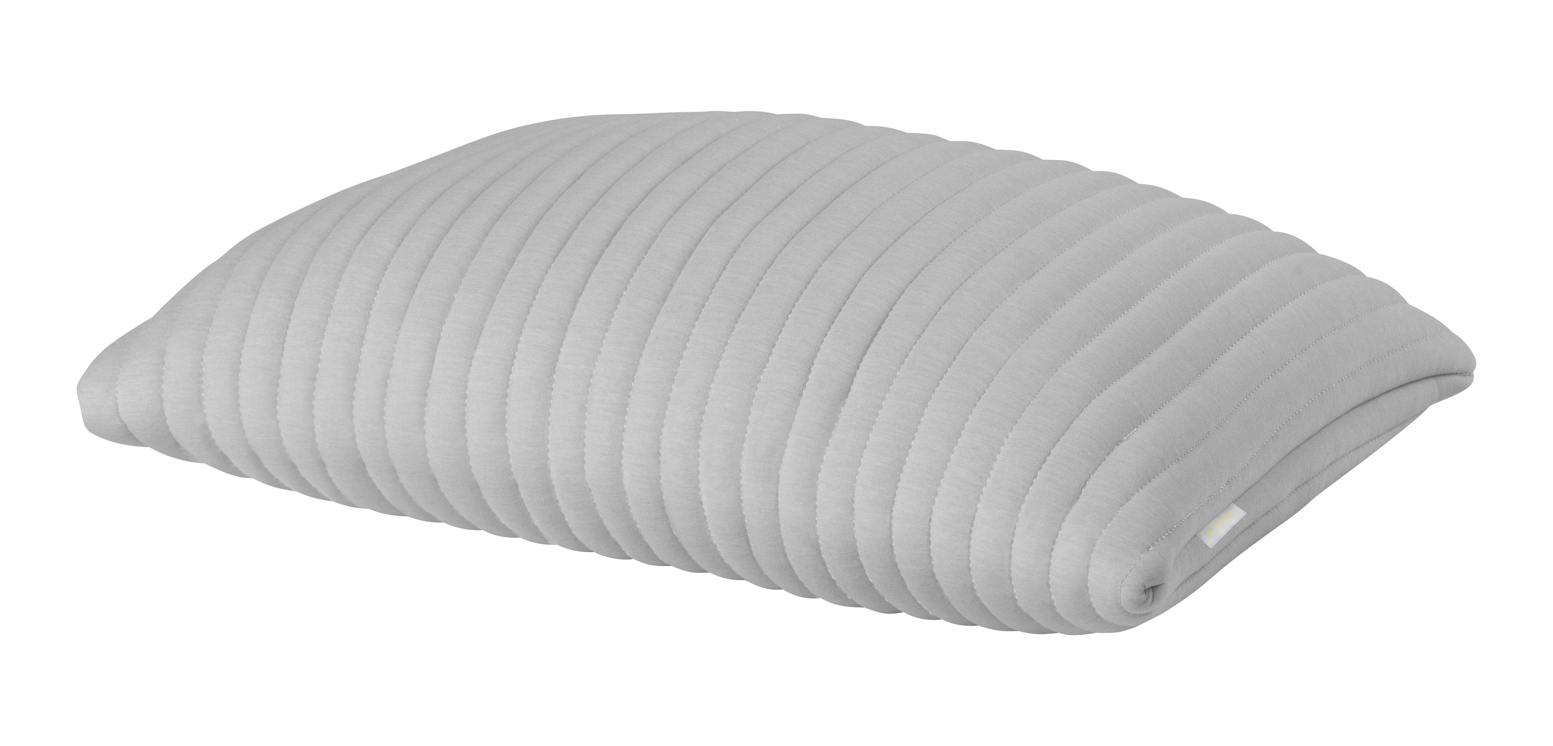 coussin linear memory 55 x 40 cm m moire de forme tissu 3d gris nomess. Black Bedroom Furniture Sets. Home Design Ideas