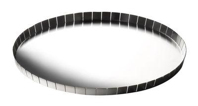 Plateau Alle Cinque / Ø 32 x H 1,5 cm - Serafino Zani métal brillant en métal