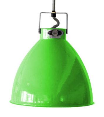 Foto Sospensione Augustin - Large Ø 36 cm di Jieldé - Verde mela brillante - Metallo