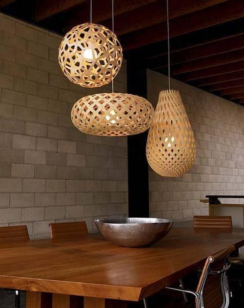 suspension koura 52 cm bois naturel david trubridge. Black Bedroom Furniture Sets. Home Design Ideas