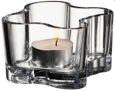 Decoration - Candles & Candle Holders - Aalto Candle holder by Iittala - Transparent - Glass