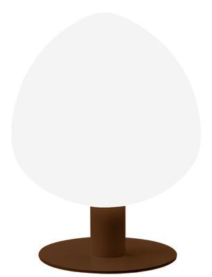 Lampe Tree / H 64 cm - Vibia blanc,marron en matière plastique