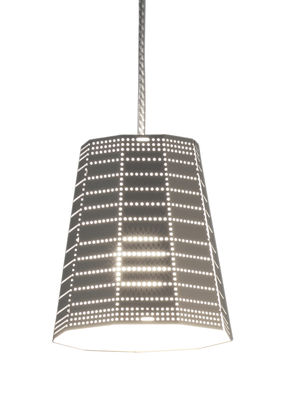 Luminaire - Suspensions - Suspension Null Vector Beta LED / Ø 13 x H 15 cm - Artemide - Gris aluminium - Aluminium