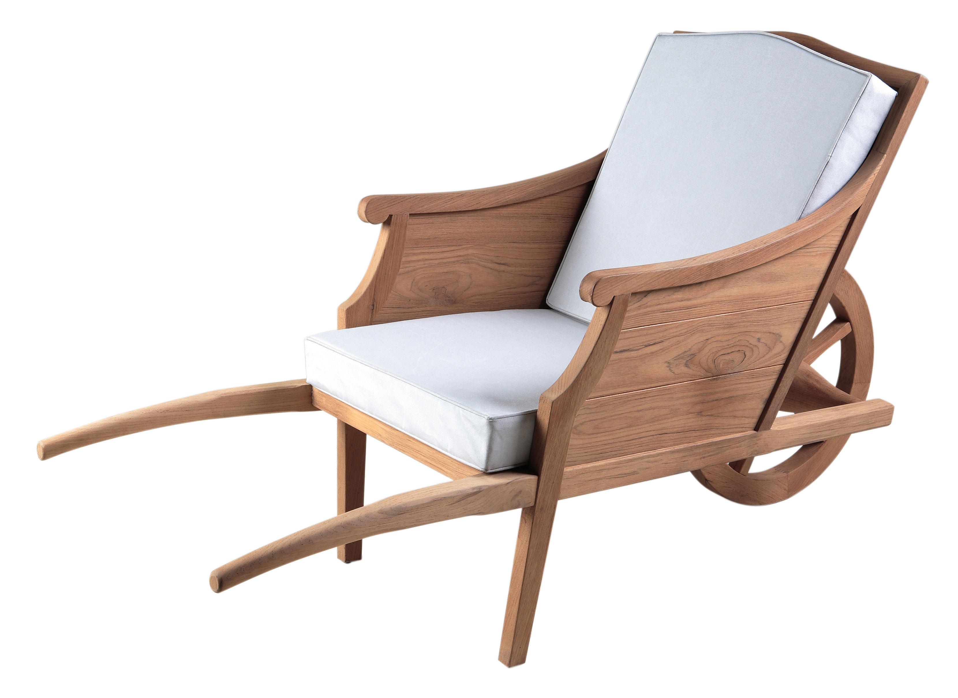 fauteuil ceci n 39 est pas une brouette outdoor teck coussins blancs xo. Black Bedroom Furniture Sets. Home Design Ideas