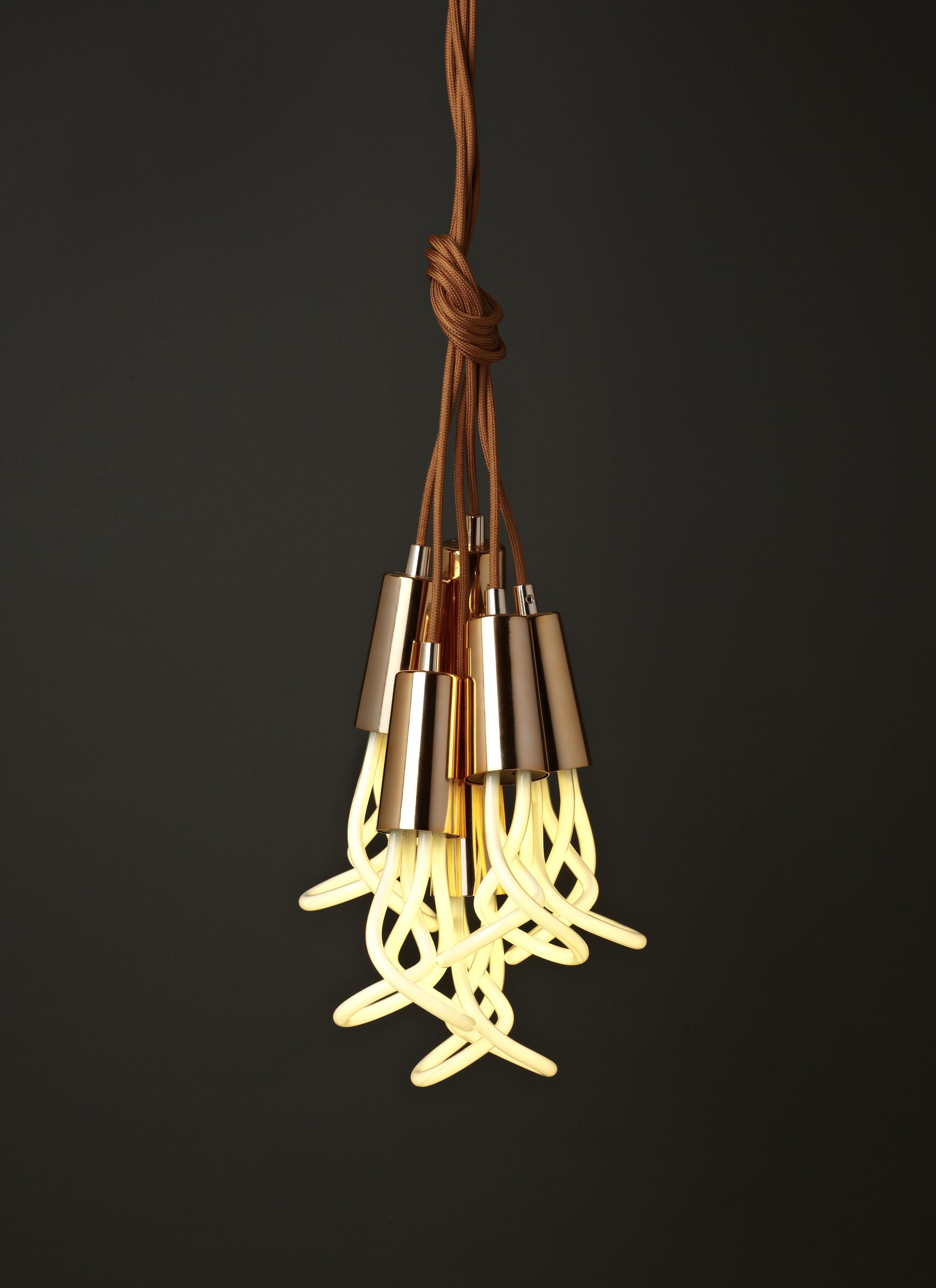 suspension set c ble cache douille cuivre plumen made in design. Black Bedroom Furniture Sets. Home Design Ideas