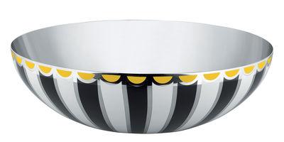 Coupe Circus / Ø 32 cm - Métal - Alessi blanc,jaune,noir en métal