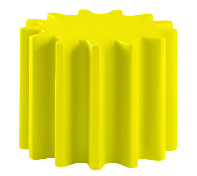 Tavolino Gear - /Sgabello di Slide - Giallo - Materiale plastico