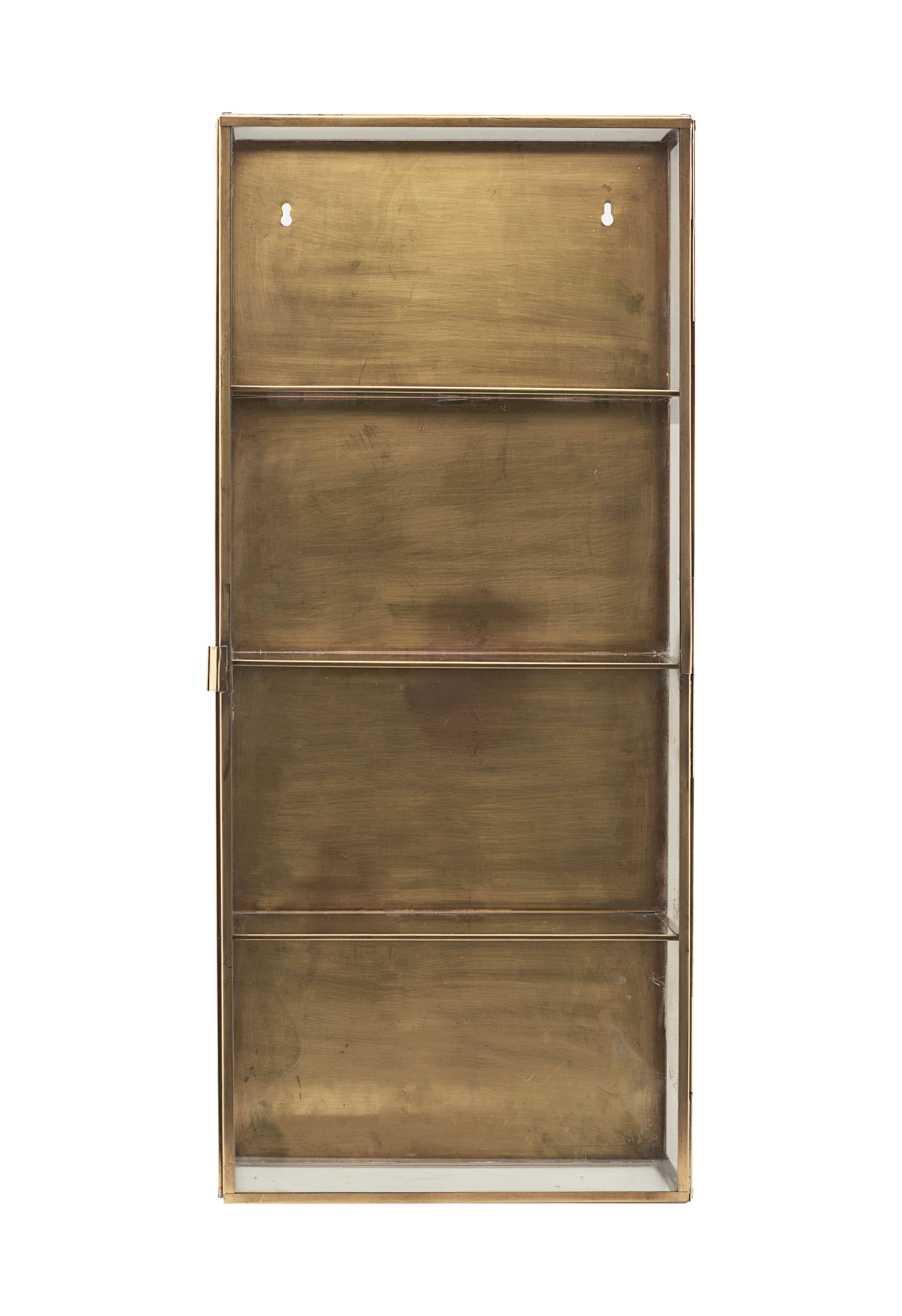 cabinet large wandablage vitrine l 35 cm x h 80 cm gro messing by house doctor made. Black Bedroom Furniture Sets. Home Design Ideas