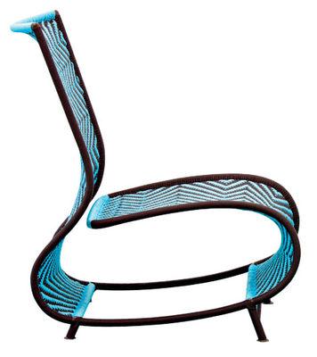 Arredamento - Mobili d'eccezione - Poltrona M'Afrique - Toogou di Moroso - Marrone e blu - Acciaio verniciato, Materiale plastico