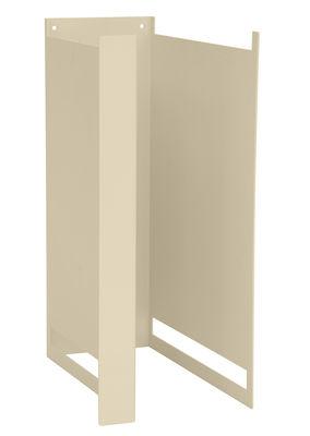 Mobilier - Etagères & bibliothèques - Montant Plio Ho / H 39 cm - Pour fabriquer une étagère - Presse citron - Beige clair - Acier laqué