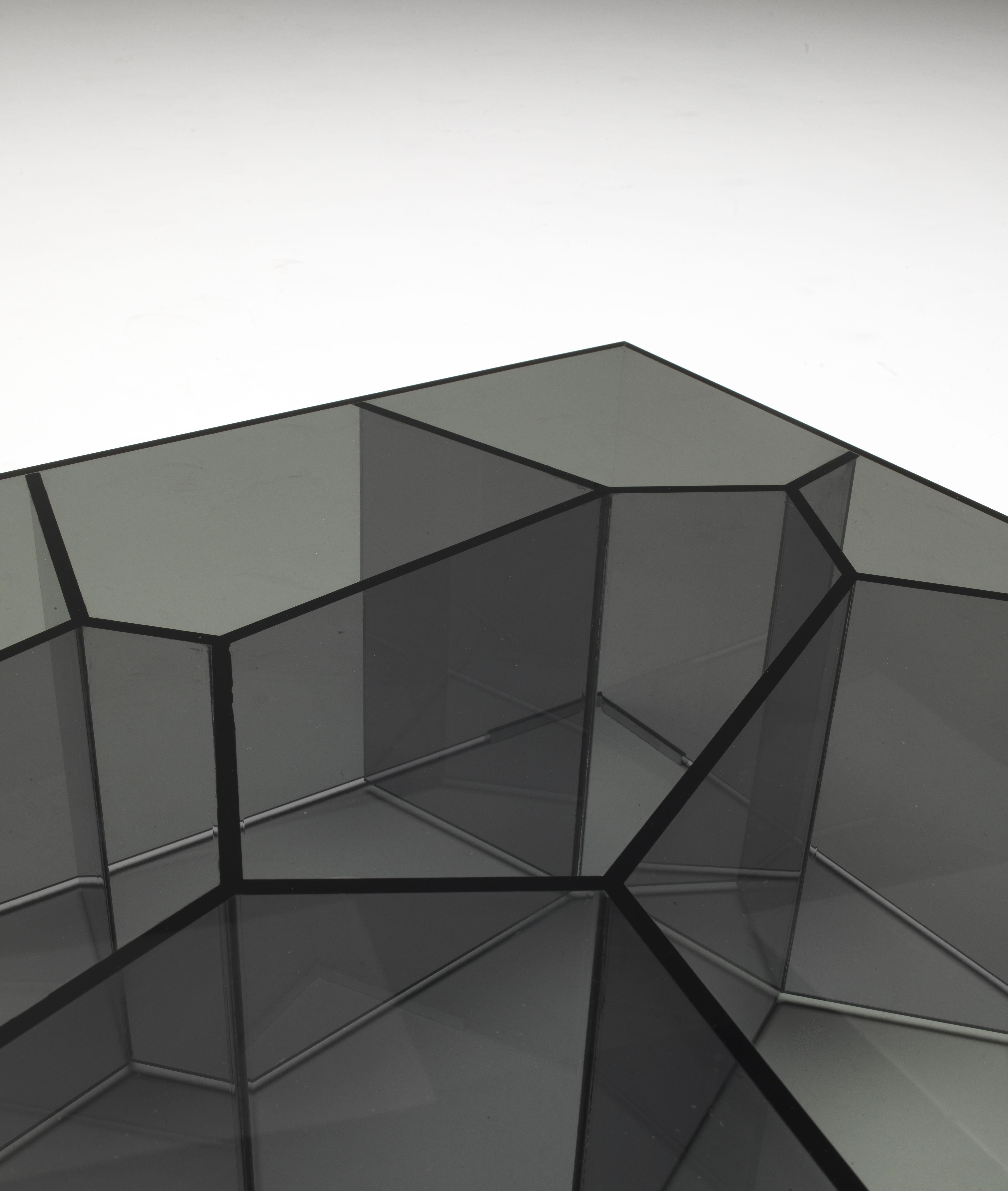 table basse alice 50 x 50 cm verre fum glas italia. Black Bedroom Furniture Sets. Home Design Ideas