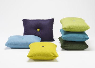 coussin dot divina 60 x 45 cm vert d 39 eau boutons vert fonc jaune hay. Black Bedroom Furniture Sets. Home Design Ideas