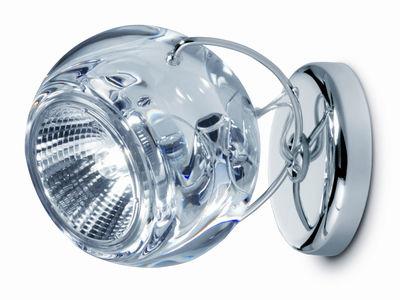 Luminaire - Appliques - Applique Beluga / Plafonnier - Version verre - Fabbian - Verre transparent - Métal chromé, Verre