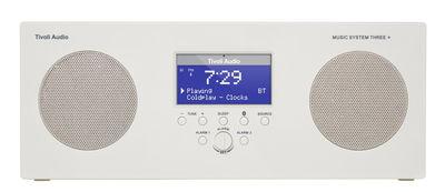Accessoires - Réveils et radios - Radio-réveil Music System 3+ / Enceinte Bluetooth - Sans fil - Tivoli Audio - Blanc - Matière plastique