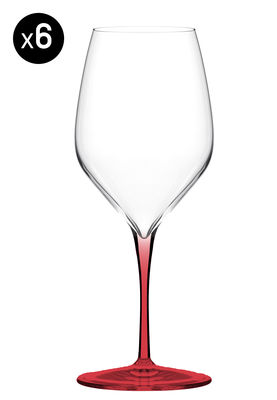 verre vin vertical medium 39 cl lot de 6 pied rouge italesse. Black Bedroom Furniture Sets. Home Design Ideas