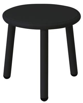 Tavolino Yard - / Ø 40 cm di Emu - Nero - Metallo