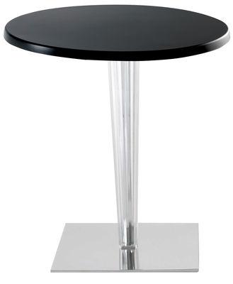 tavolo da giardino Top Top - Contract outdoor - Piano rotondo di Kartell - Nero - Materiale plastico