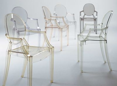 Furniture   Chairs   Louis Ghost Stackable Armchair   Transparent /  Polycarbonate By Kartell   Transparent