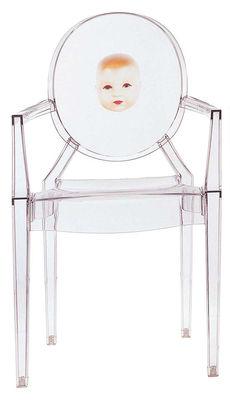 Foto Poltrona impilabile Louis Ghost di Kartell - Trasparente - Materiale plastico