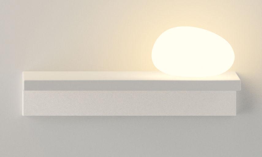 Scopri scaffale luminoso suite l 32 cm diffusore in vetro collgamento a parete diffusore - Suite cm ...
