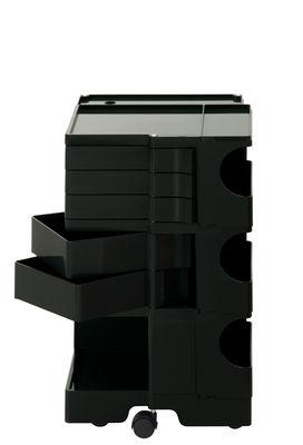 Desserte Boby / H 73 cm - 5 tiroirs - B-LINE noir en matière plastique