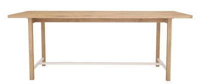 Squeeze Tisch / 200 x 90 cm - Universo Positivo - Weiß,Eiche natur