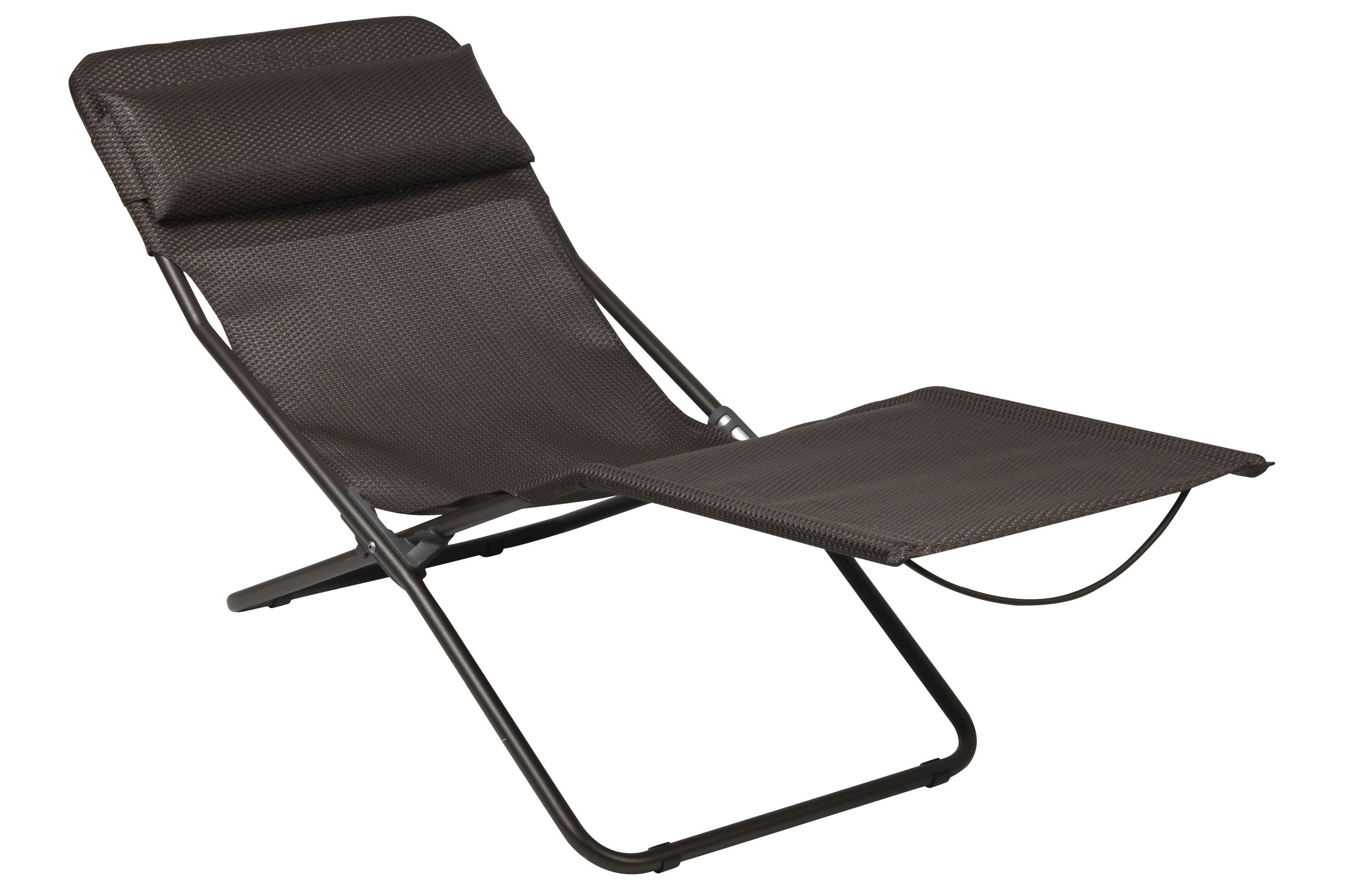 Transalounge Xl Plus Sun Lounger Foldable Moka By Lafuma