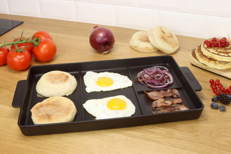 plancha burger chef pour hamburger maison 2 personnes noir cookut. Black Bedroom Furniture Sets. Home Design Ideas