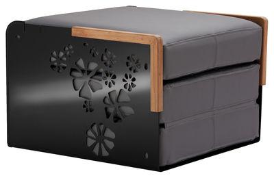 Chauffeuse convertible Kube / Bain de soleil, table basse - EGO Paris noir,graphite en métal