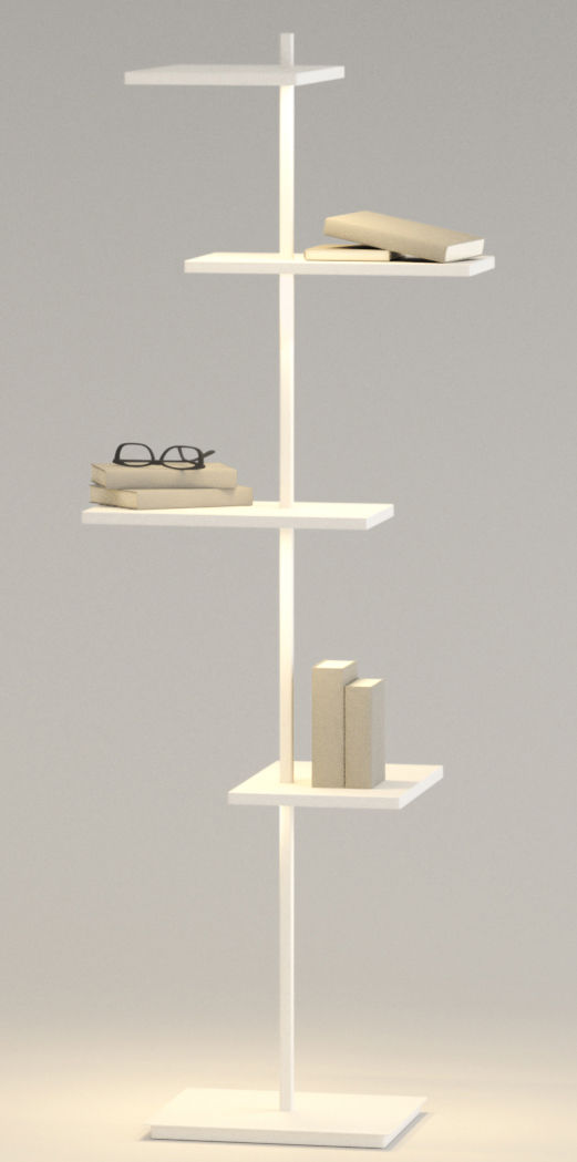 Scopri scaffale luminoso suite h 133 cm porta usb bianco di vibia made in design italia - Suite cm ...
