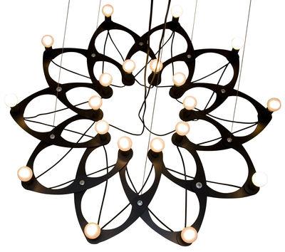 Luminaire - Suspensions - Suspension Ornametrica modulable - Bloom! - Noir - Aluminium laqué