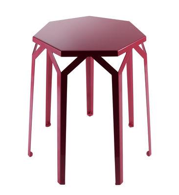 Tavolino Ripe - / 56 x 56 x H 60 cm di Internoitaliano - Rosso - Metallo