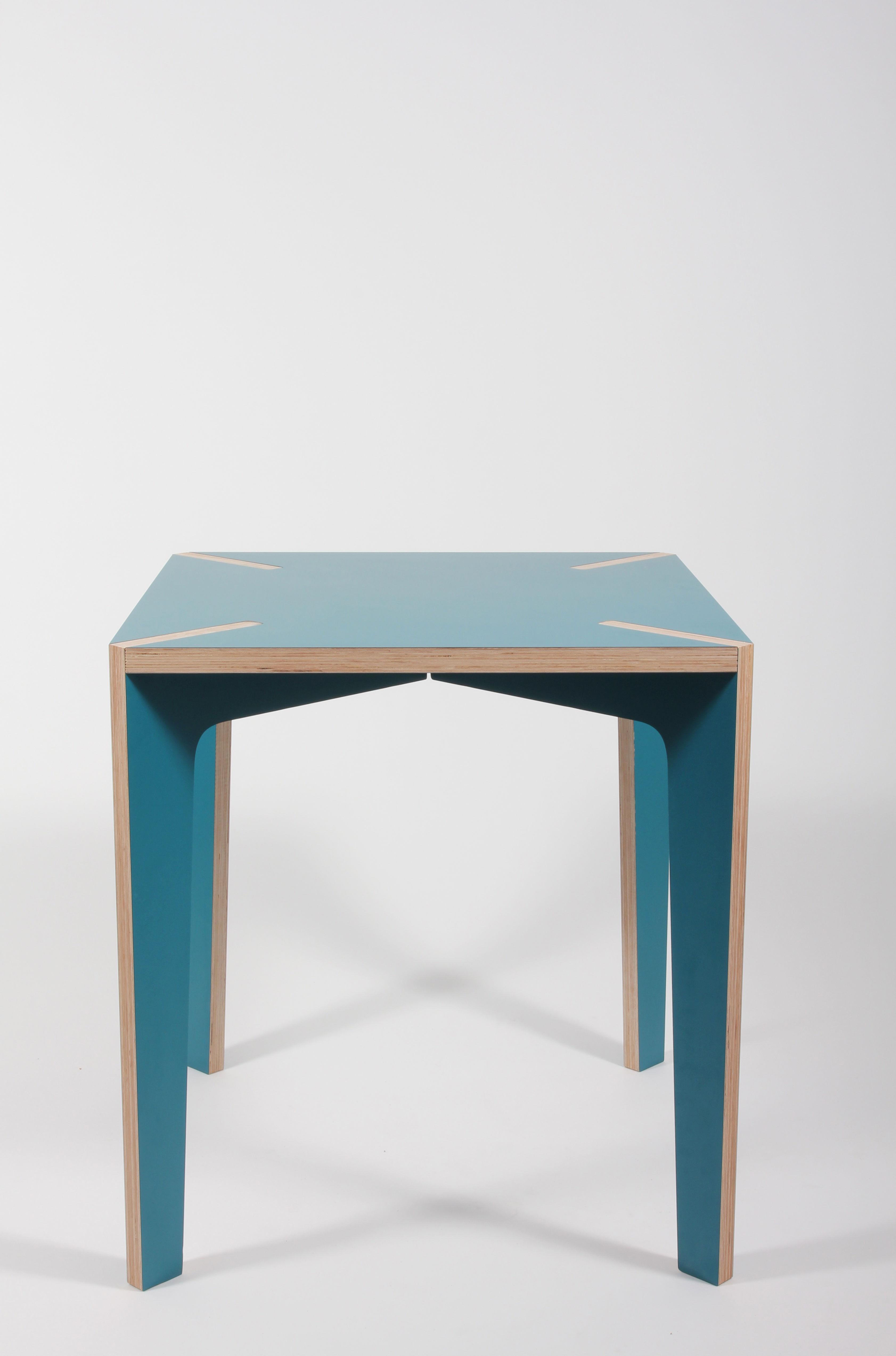 Scopri tavolo s rie x 70 x 70 cm 70 x 70 cm blu di la for Tavolo 70 x 120