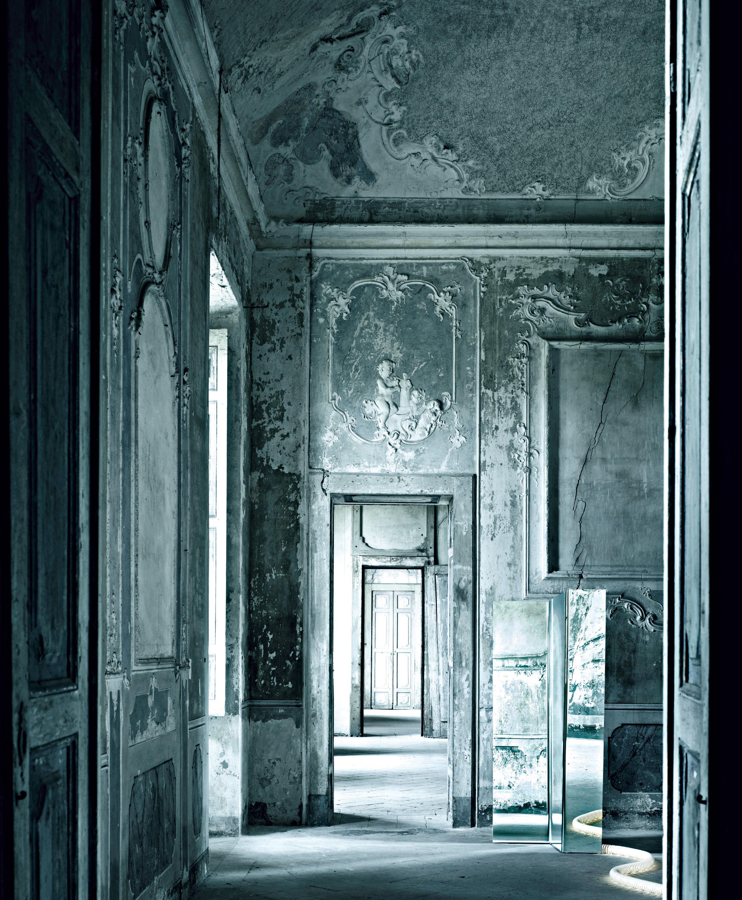 paravent nu miroir 3 panneaux l 86 x h 180 cm une. Black Bedroom Furniture Sets. Home Design Ideas