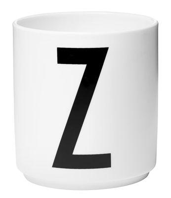 Mug Arne Jacobsen / Porcelaine - Lettre Z - Design Letters blanc en céramique