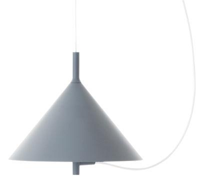 Luminaire - Suspensions - Suspension Nendo Cone w132s / Ø 28,5 cm - Wästberg - Bleu - Acier