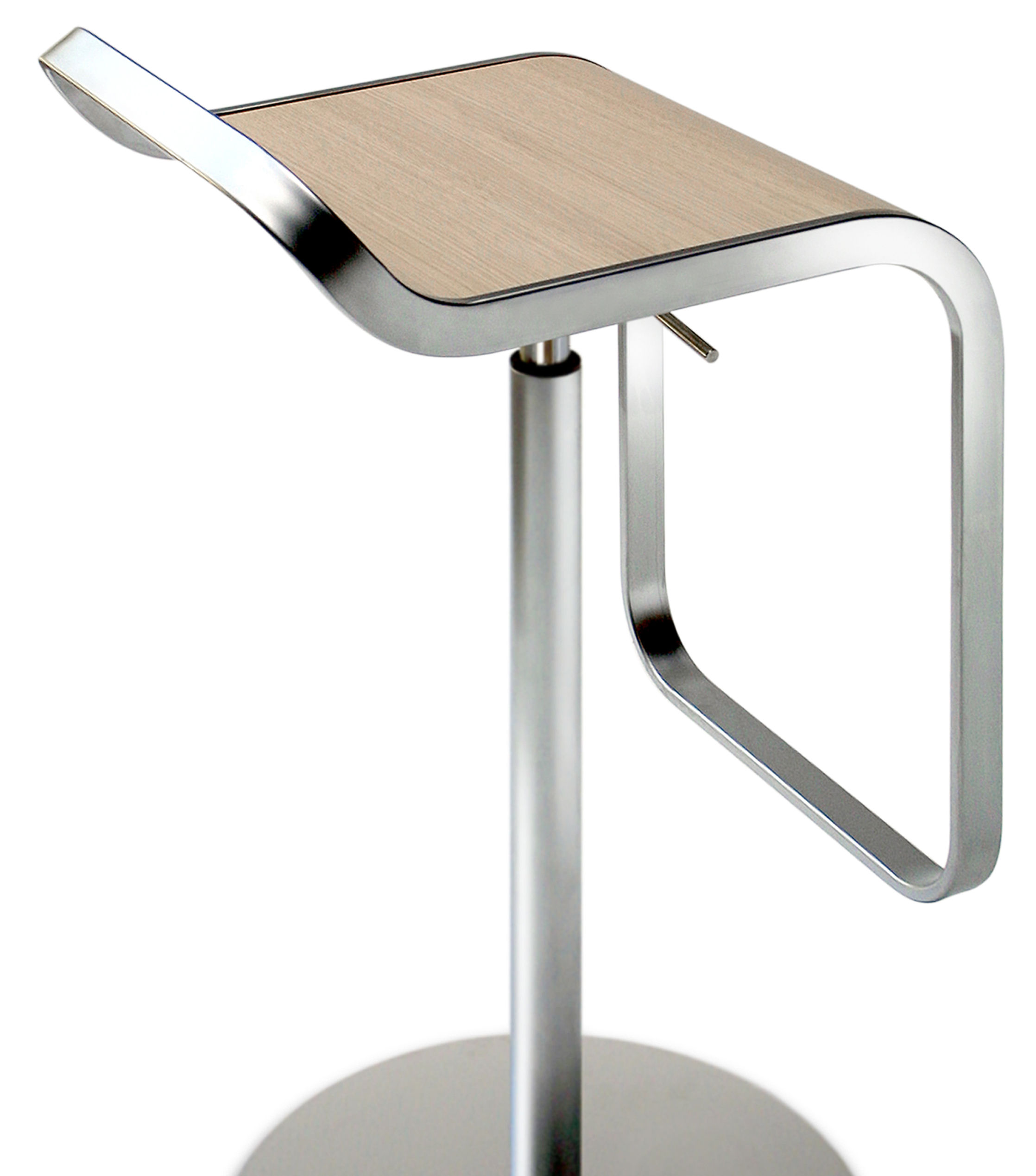 Lem Adjustable Bar Stool Pivoting Wood Seat Lacquered