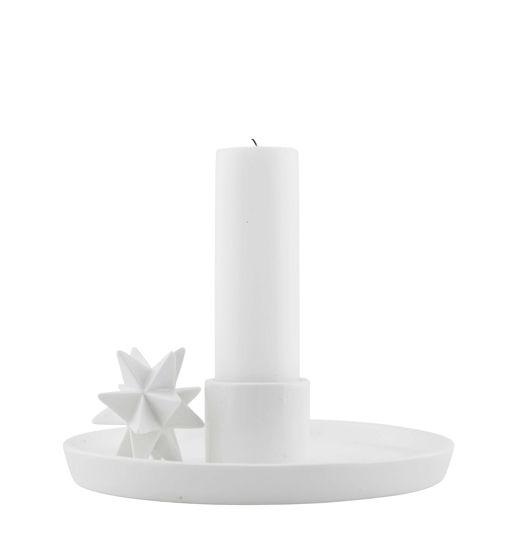 bougeoir tray star porcelaine blanc house doctor. Black Bedroom Furniture Sets. Home Design Ideas