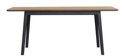 Mobilier - Tables - Table E8 / 180 x 90 cm - Zeitraum - Plateau chêne naturel / Structure chêne teinté Noir Graphite - Chêne massif