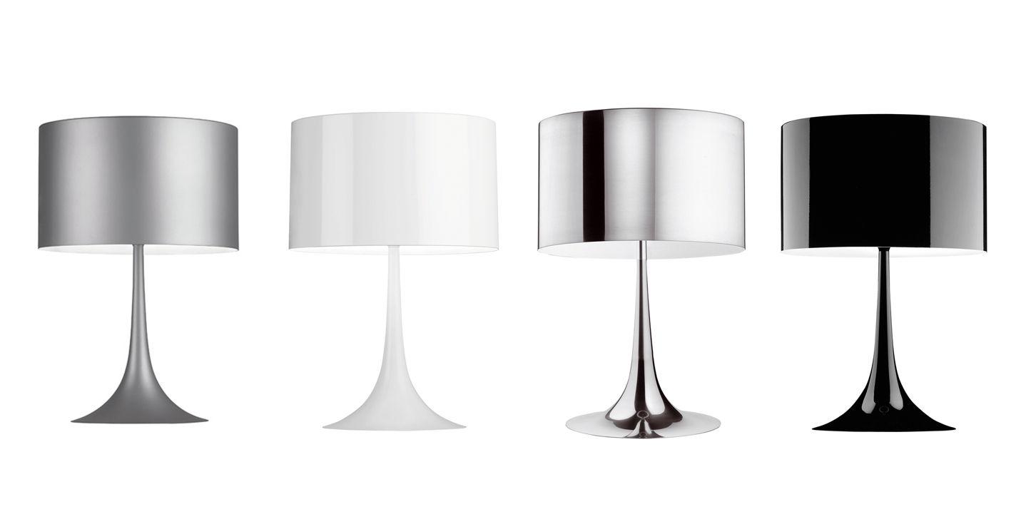 Lampe De Table Spun Light T1 H 57 Cm Noir Brillant Flos