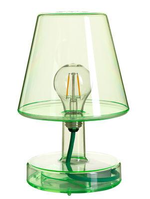 Lampe sans fil Transloetje / LED - Ø 16 x H 25 cm - Fatboy vert transparent en matière plastique
