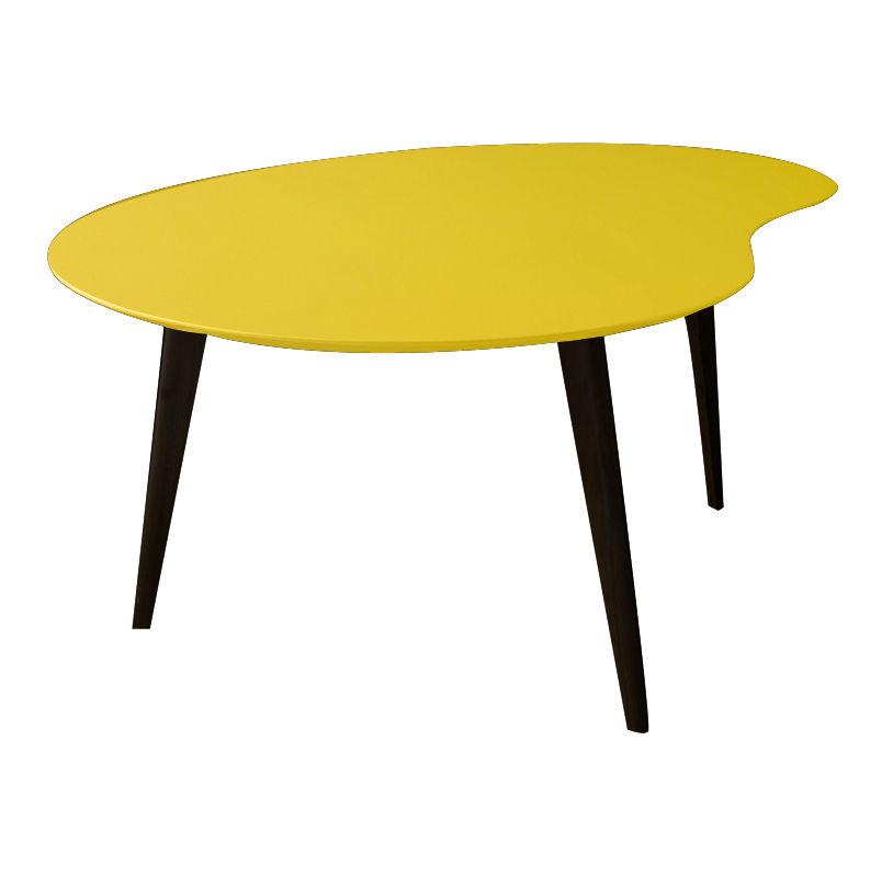 table basse lalinde large haricot l 83cm pieds noirs jaune pieds noirs sentou edition. Black Bedroom Furniture Sets. Home Design Ideas