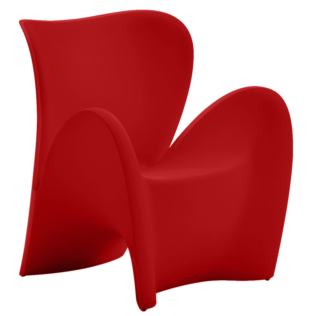 fauteuil lily plastique rouge mat myyour. Black Bedroom Furniture Sets. Home Design Ideas