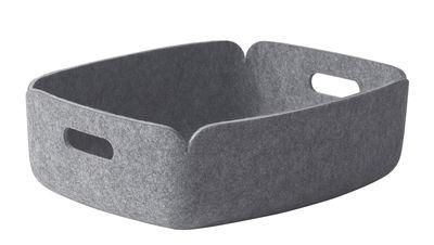 Déco - Corbeilles, centres de table, vide-poches - Panier Restore / Feutre - 31 x 40 cm - Muuto - Gris - Feutre
