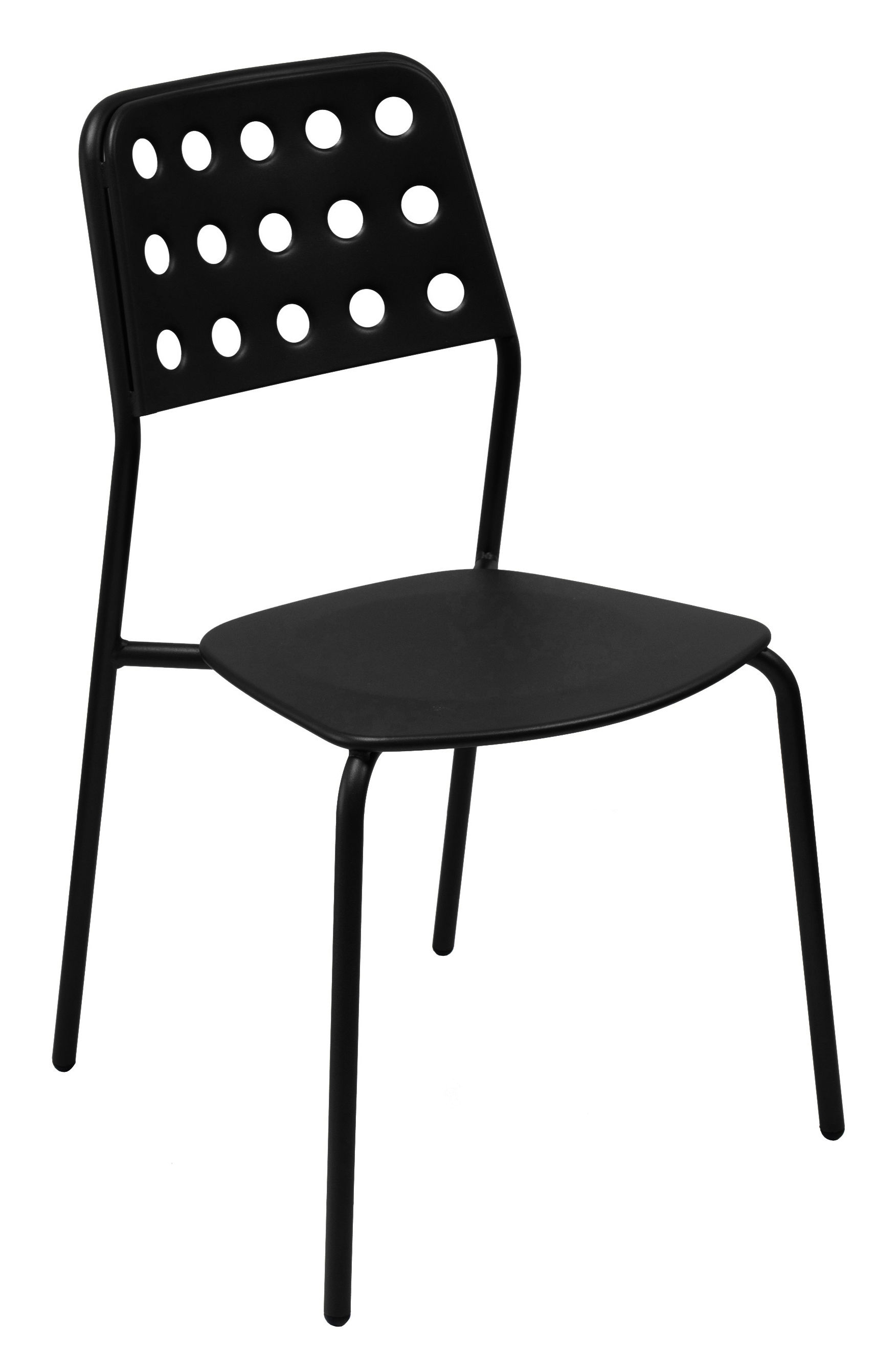 Chaise empilable shot m tal noir emu for Chaise metal noir