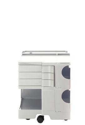 Desserte Boby / H 52 cm - 3 tiroirs - B-LINE blanc en matière plastique